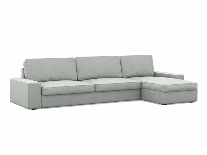 Kivik pokrowiec na sofę 3-osobową z szezlongiem