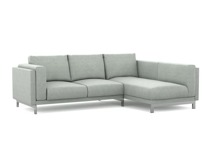 Nockeby 2-seater sofa with chaise longue cover