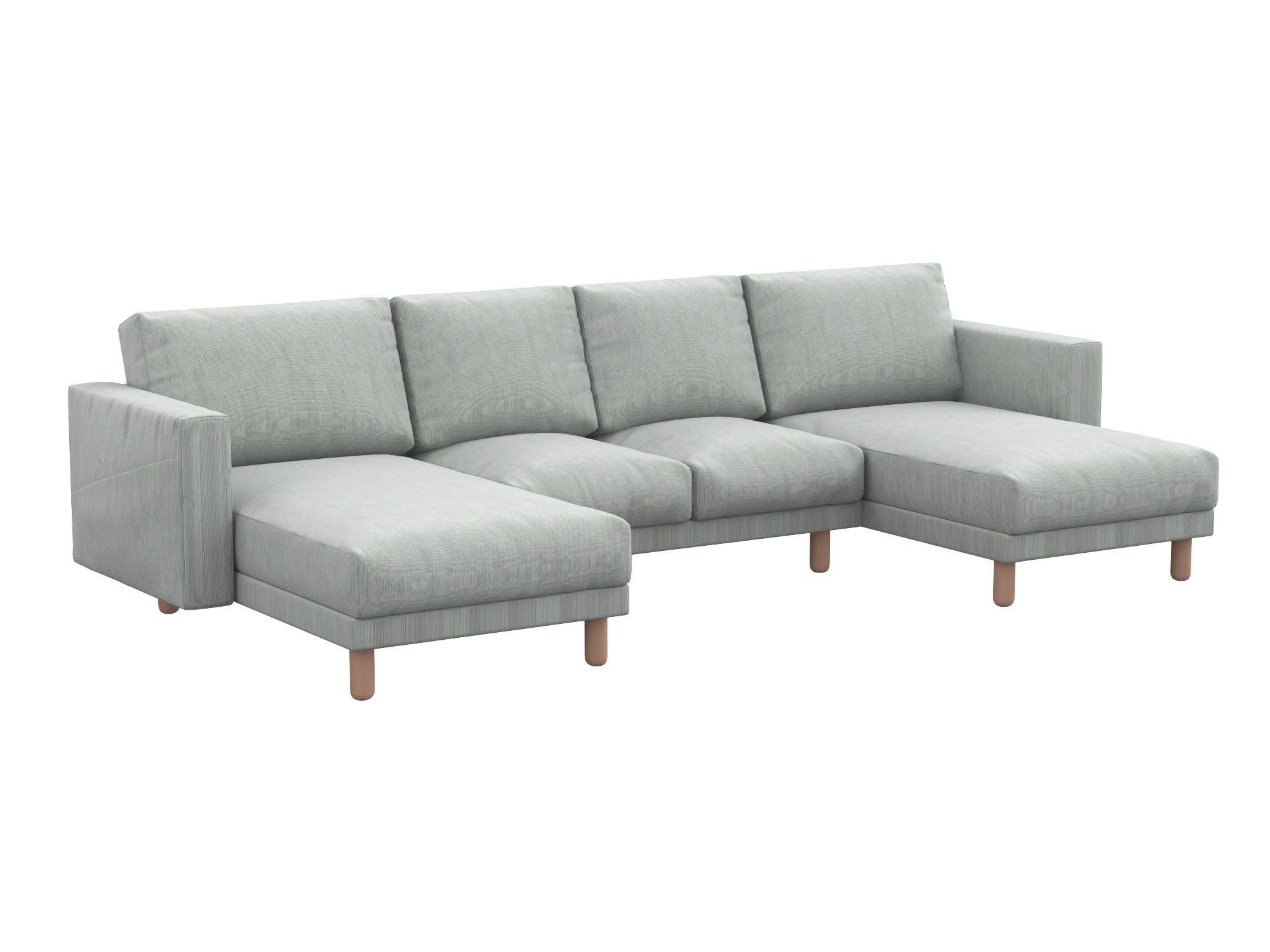 Norsborg pokrowiec na sofę 4-osobową z dwoma szezlongami i kieszeniami bocznymi