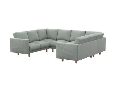 Norsborg pokrowiec na sofę 4-osobową z szezlongiem i kieszeniami bocznymi